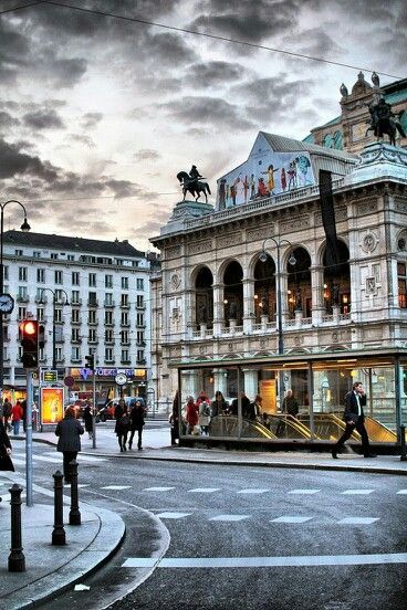 Vienna Opera House, Austria.  Everything here looked like it was hundreds of years old.  So much history and culture!  http://www.schwartzimmigration.com