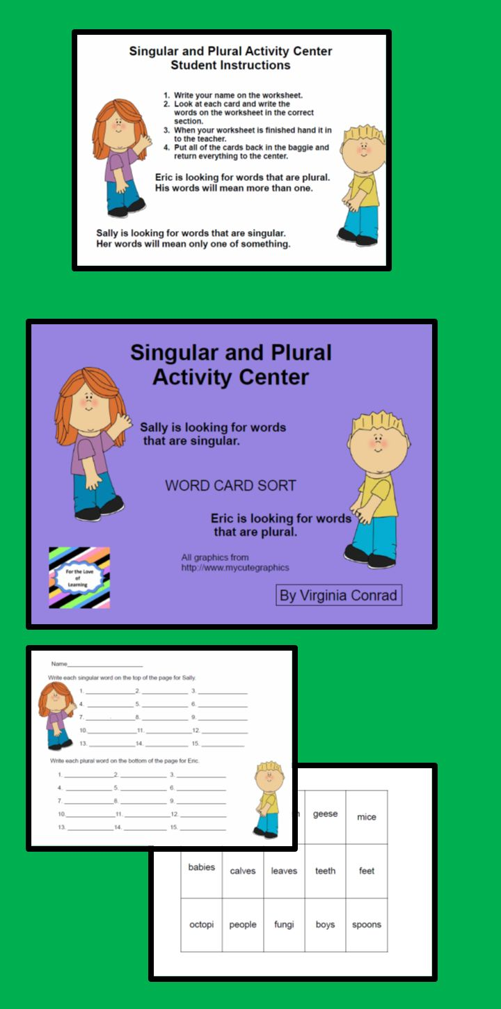 Workbooks making words plural worksheets : The 25+ best Singular and plural words ideas on Pinterest ...