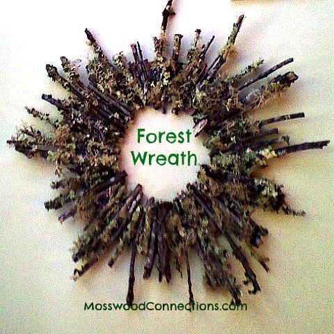 Forest Wreath Art Project This forest wreath is a simple art project that kids can be proud to hang on the wall to enjoy for many years.