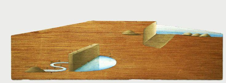 Hidden World  - small piece of playwood