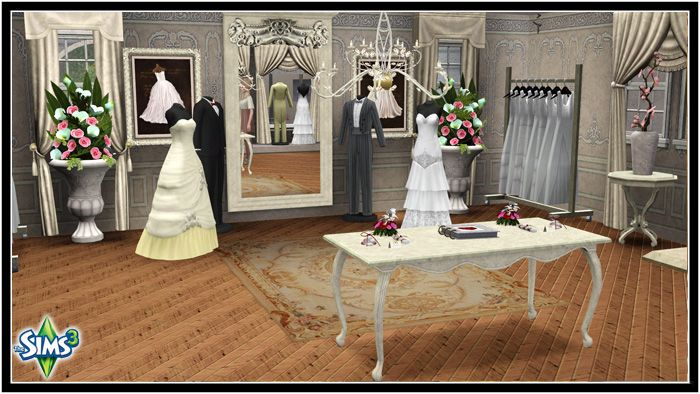 Around The Sims 2 Objects Downtown Wedding Shop Add