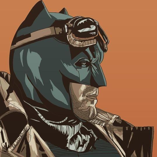 Desert Batman by MessyPandas