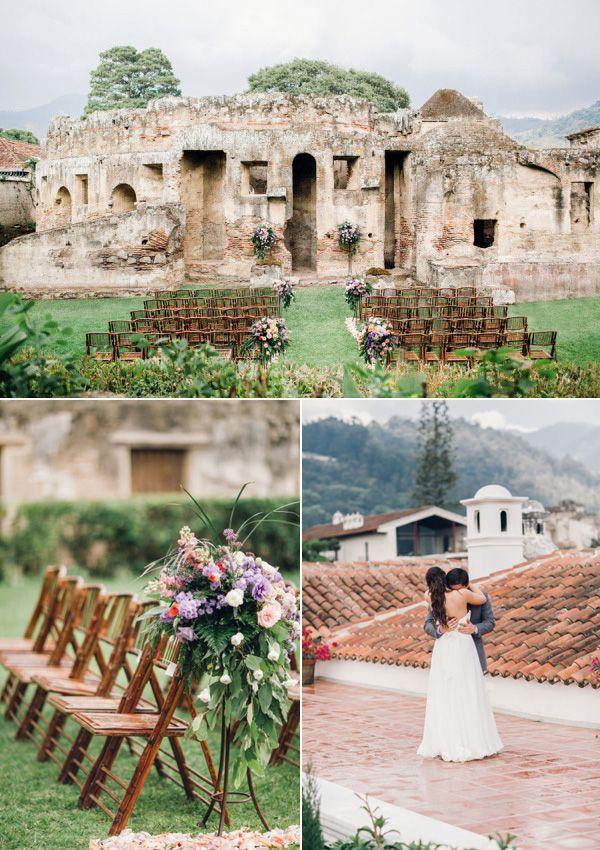 rustic outdoor wedding ideas in La Antigua Guatemala