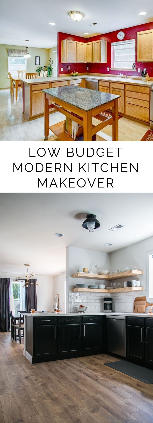 give your home some sweet sweat equity with this gorgeous low budget modern kitchen makeover on - Low Budget Kitchen Remodel