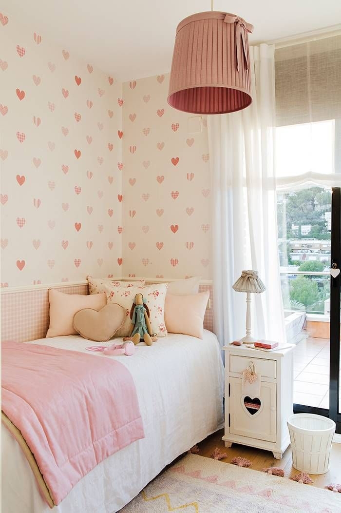 Una habitaci n de ni a para suspirar en 2019 dormitorio for Papel pintado para pintar castorama