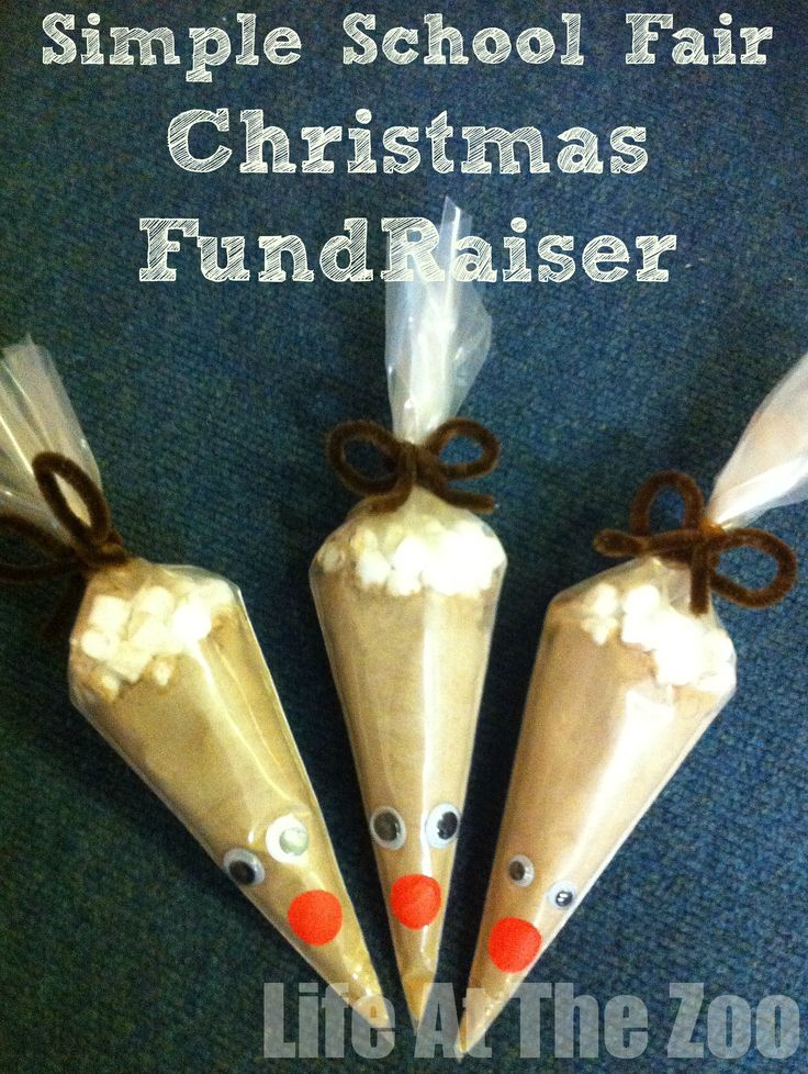 Christmas Fundraising Ideas - these would also make a great craft activity that children could then take home as a gift.