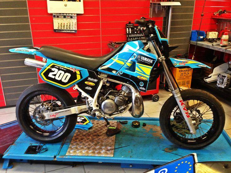 #Yamaha #DT200 #2-stroke #custom #dirt bike #vintage ...