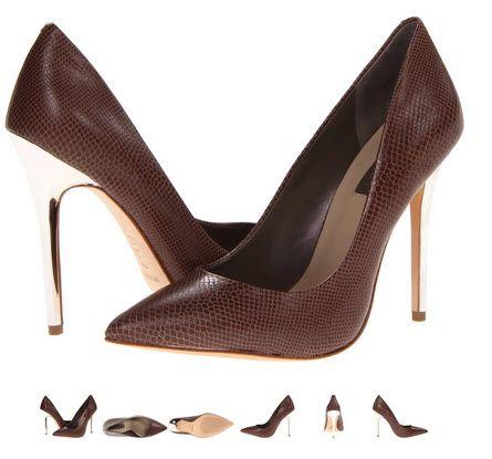 Pantofi cu toc metalizat argintiu by BCBGMAXAZRIA Onnie - culoare maro sarpe.  Detalii aici http://thankyou.ws/pantofi-stiletto-din-piele-naturala-alege-calitatea #pantofisenzationali  #pantoficutocstiletto #pantofidinpielenaturala #pantofistilettopielenaturala