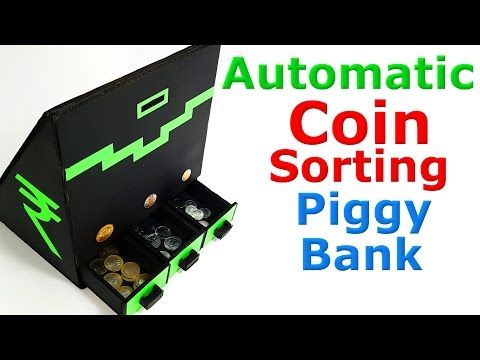 How to make Coin Sorting Piggy Bank - YouTube