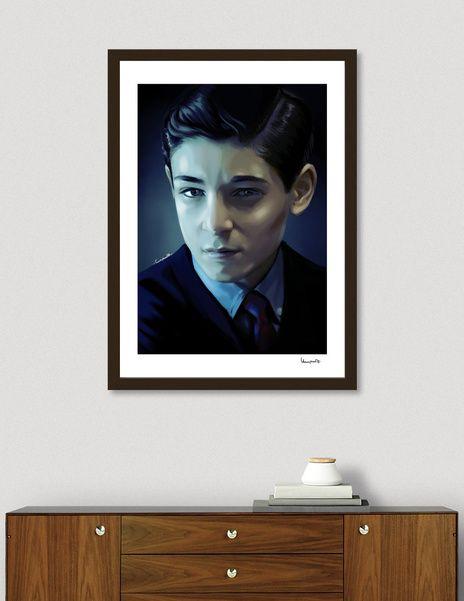 Discover «Bruce Wayne», Exclusive Edition Fine Art Print by Paola Morpheus  #davidmazouz #dccomics #gotham #tvseries #batman #batmanuniverse #interiordesign #illustration #digitalpainting #portrate #posterart #posterportrate #blue #night #dark #gothamcity #arkamasylum #paolamorpheus
