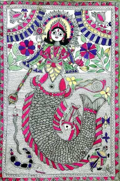 matsyavatar_Mithila Painting