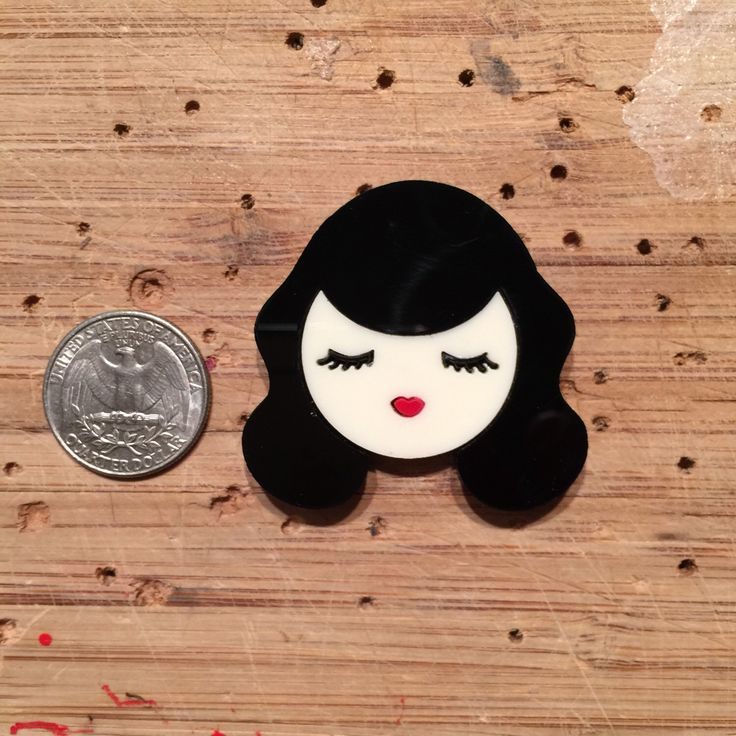 Mini Valley of the Dolls: BETTIE layered acrylic brooch by Baccurelli on Etsy https://www.etsy.com/listing/232907472/mini-valley-of-the-dolls-bettie-layered