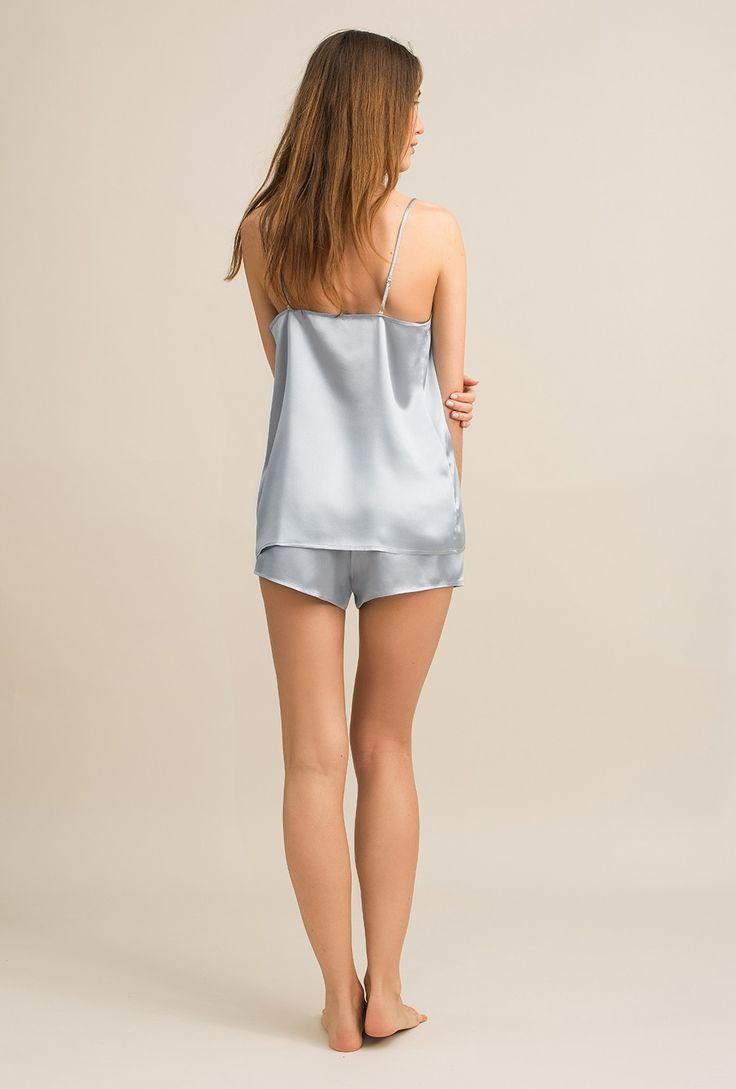 V neck silk cami - Gigi breeze - MOYE Homewear