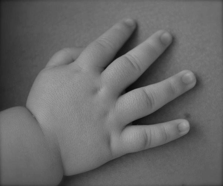 Jaxsons hand on his daddy's heart :)