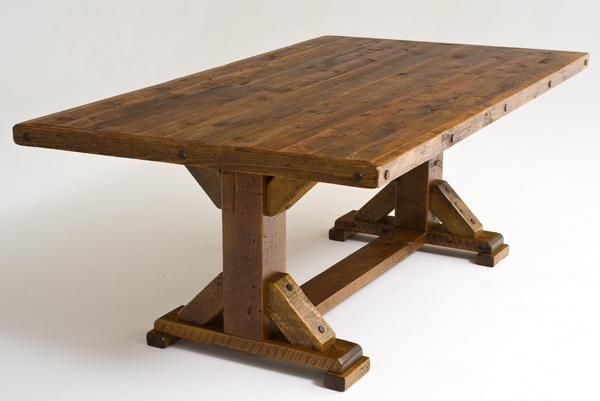 Barnwood Dining Table | Outdoor Wood Dining Table, Wood Patio Table, Concrete Table | Woodland ...