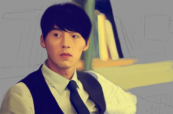 Hyun Bin by Marissa Pratiwi, via Behance