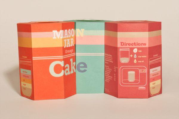 Jar Cakes Packaging Design by Jessica Stevens, via Behance