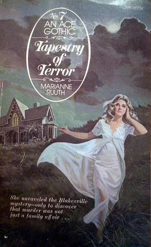 Free Romance Book Cover Art : Ace tapestry of terror gothic romance novels