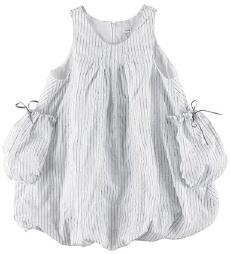 Makie: pretty tucked neckline detail + gathered pockets