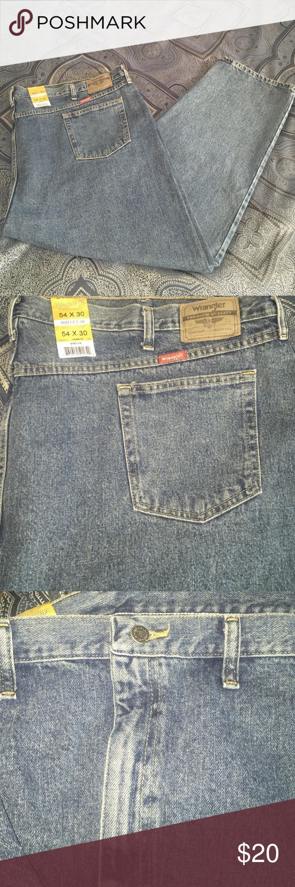 🆕👖Big & Tall Jeans By Wrangler NWT Mens Premium Quality Wrangler Denim Jeans.. Relaxed Fit Comfort Guaranteed Wrangler Jeans Relaxed