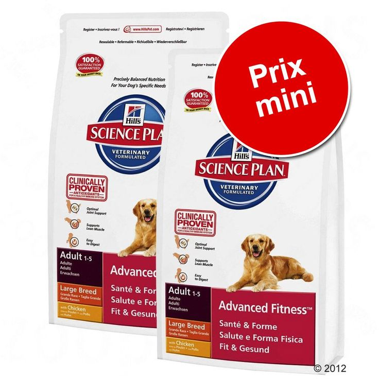 Animalerie  Lot Hills Canine pour chien  Adult Advanced Fitness thon riz (2 x 12 kg)