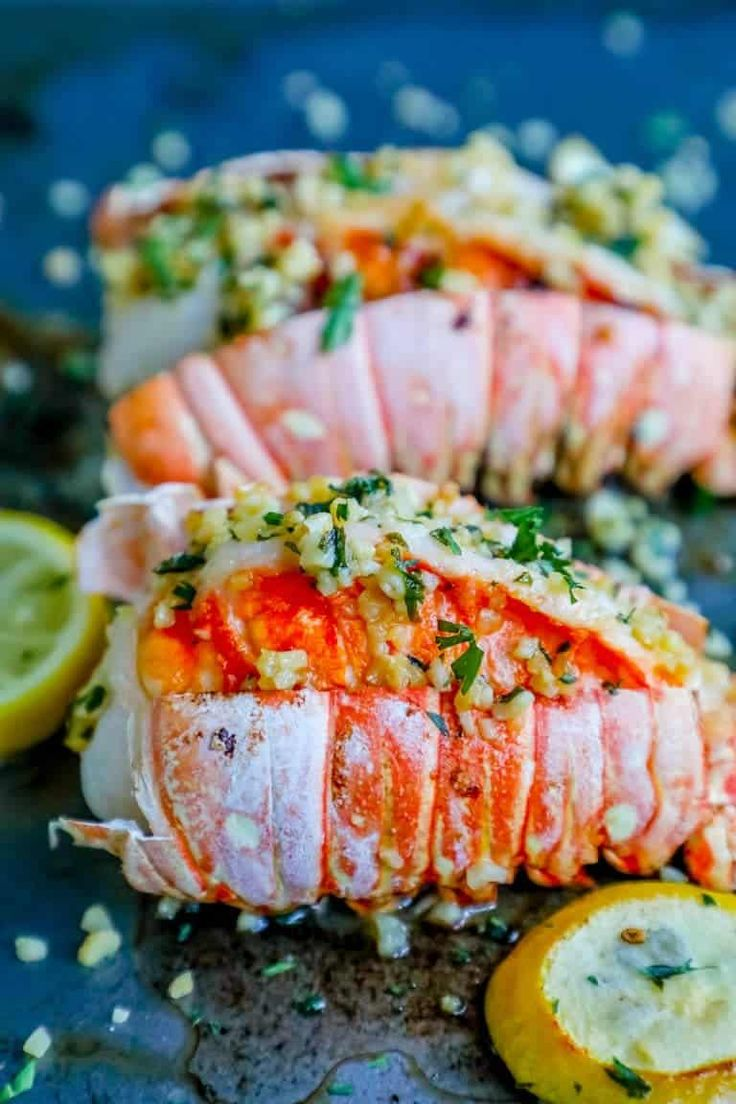 Easy 10 Minute Garlic Butter Broiled Lobster Tails Recipe