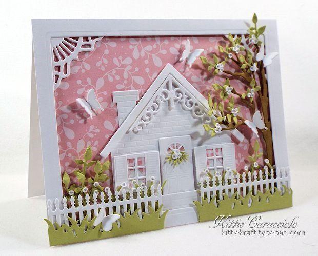 Открытка домик с окошком для бабушки и дедушки, картинки прикольные