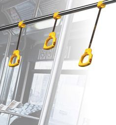 Press, Change Length is an easy grab-handle for passengers travelling by bus. The length of the handle can be adjusted (via regulatory wheel) according to the height of the passenger, thus offering a safer grip to the standing commuter. 这款巴士拉手可以根据乘客的身高及时调整长度,很贴心哦!