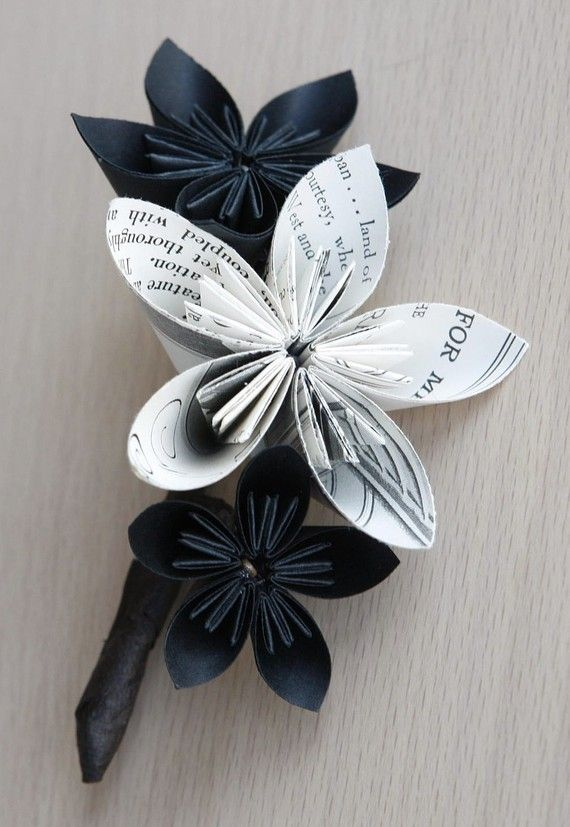 This is what we are going to do for Dawson's Boutonniere. We will customize it by using sheet music or comic book pages :) $30