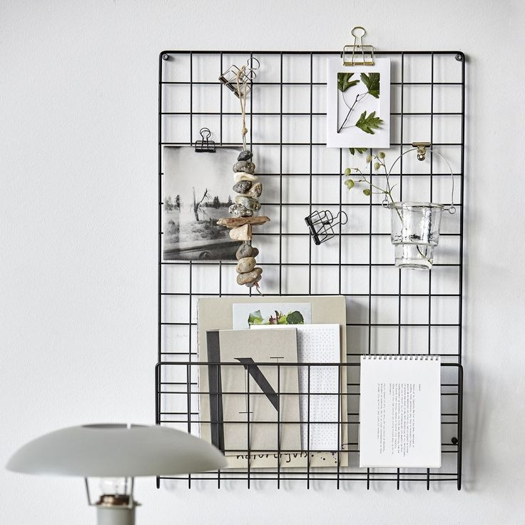 Black mesh notice board by House Doctor. W 50cm - D 6cm - H 72.5cm