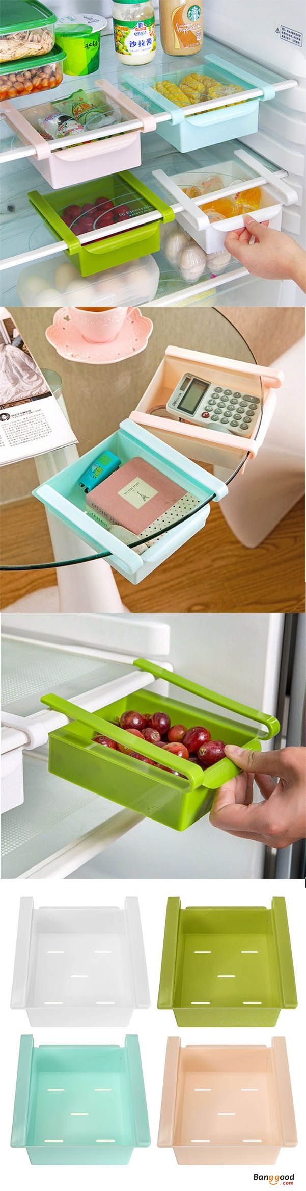 US$6.47 + Free shipping. Honana Plastic Kitchen Refrigerator Fridge Storage Rack Freezer Shelf Holder Kitchen Organization. Ideal for organizing food, drinks, fruits, etc, which makes it suitable for use under tables or refrigerator shelves.  Shop now!