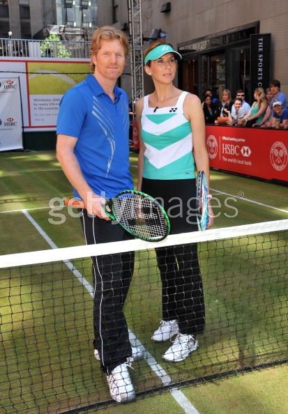 Monica Seles and Jim Courier...