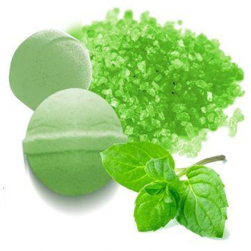 Tinte Verde Menta de Sales y bombas de Baño