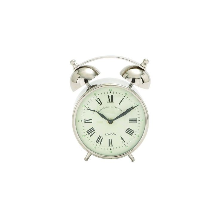 Enterprises Old-Fashioned Stainless Steel Alarm Clock