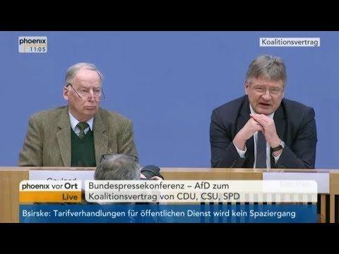 AfD-Bundespressekonferenz mit Prof. Dr. Jörg Meuthen und Dr. Alexander Gauland_70% der Fragen erwartungsgemäß provokant und teilweise hirnrissig, jedoch sehr gut gekontert.