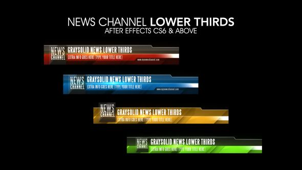 News Channel Lower Thirds