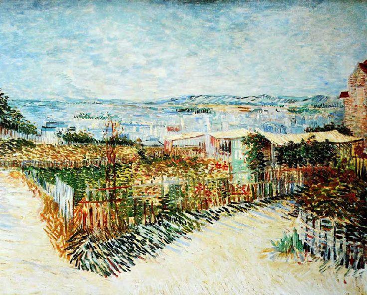 Vincent Van Gogh - Post Impressionism - Paris - Vue de Montmartre, derrière le Moulin de la Galette.