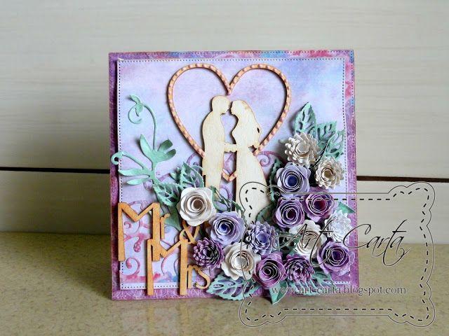 Art-Carta : Ślubnie w fiolecie