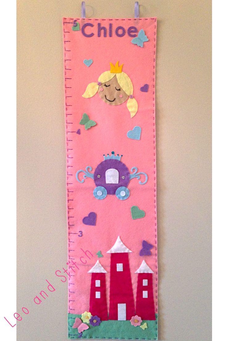Princess felt height chart