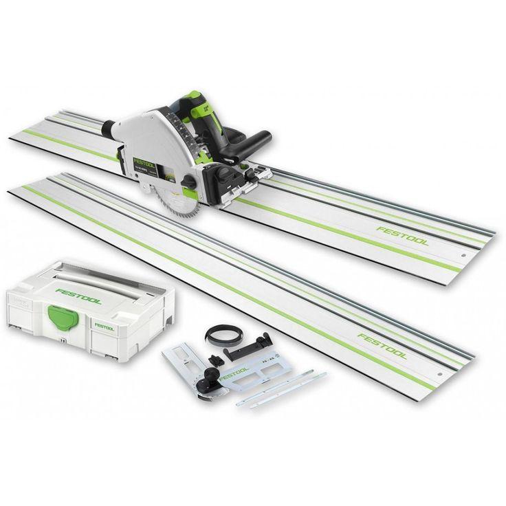 Festool TS55REBQ-Plus FS Plunge Saw, 2 rails and Accessory Kit 230V