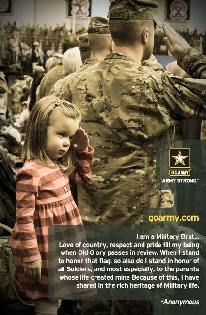 military brat | This month, we celebrate the Military Child. If you are an Army Brat ...