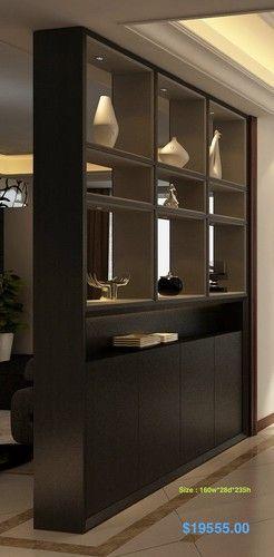 Éste tipo de mueble da un toque elegantísimo. Además sirve para división de espacios.