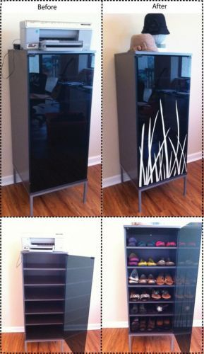 shoe cabinet from ikea media console i cannot stand shoes being out in the open