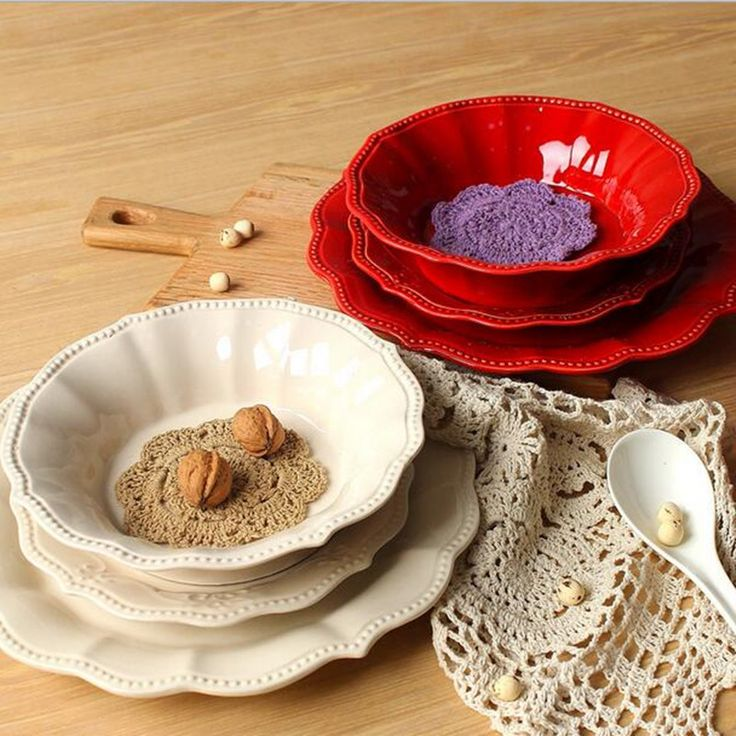 Ceramic fruit tray Ceramic relief Western-style ceramic plate Kitchen tool table dinnerware ceramic plates kitchen tools dessert