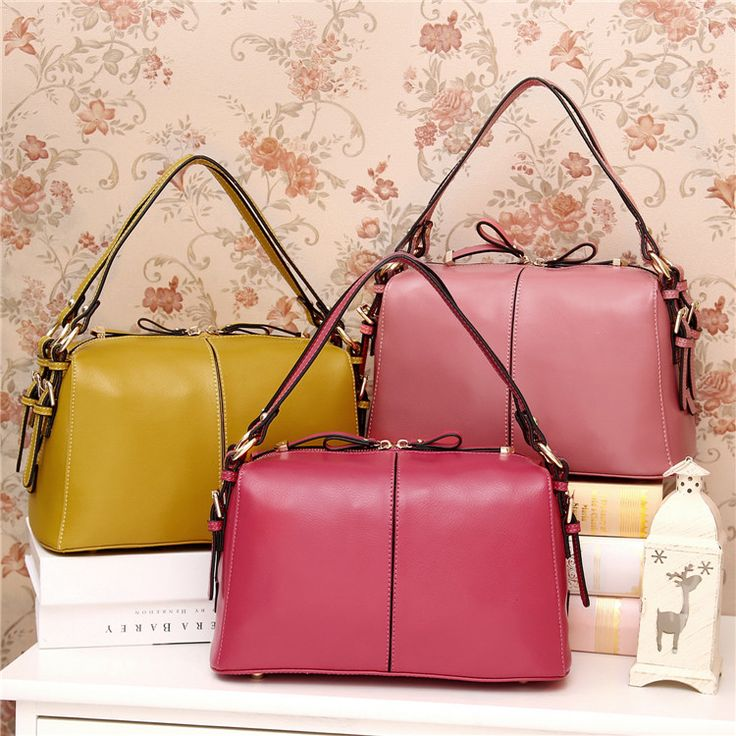 Leather Handbags in fresh colors