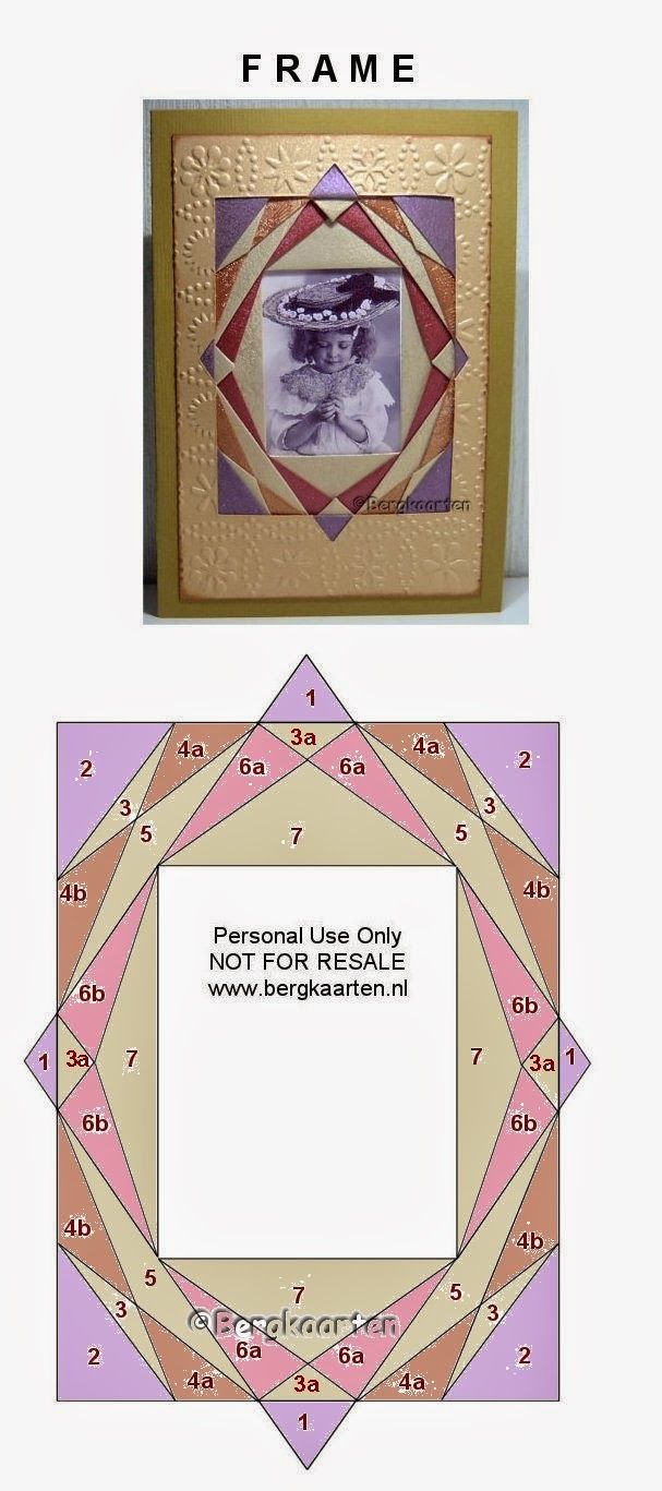 Photo Frame Iris Folding pattern by Irisvouwen
