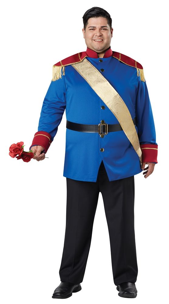 adult plus size storybook prince charming costume fairytale mens fancy dress new - Prince Charming Halloween Costumes
