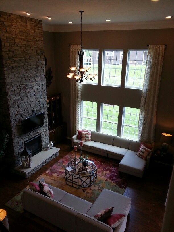 1000 images about decorating tall large walls on Two story living room decorating ideas