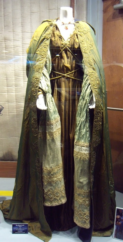 """Costume for """"Lucilla"""" (as worn by Connie Nielsen) 'Gladiator' 2000. Costume designed by Janty Yates."""