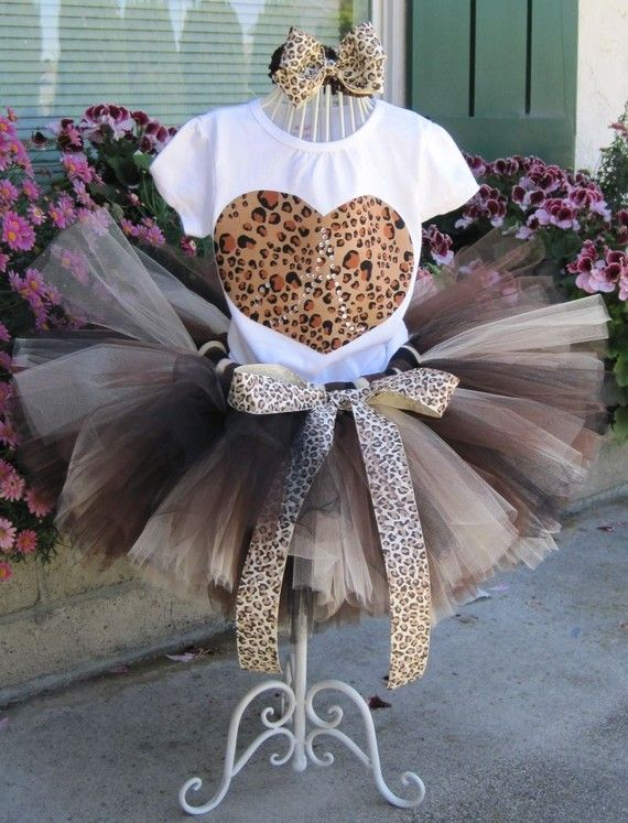 Girls Kitty Purrfect Leopard Birthday Tutu Set....i so want     this for my daughter for her first birthday party